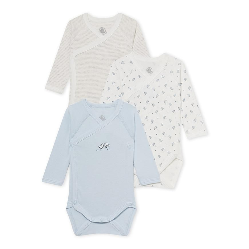 Set of 3 newborn baby s bodysuits. Set of 3 newborn baby s bodysuits  Naissance, Petit Bateau, Enfant ... b0f09c26b83