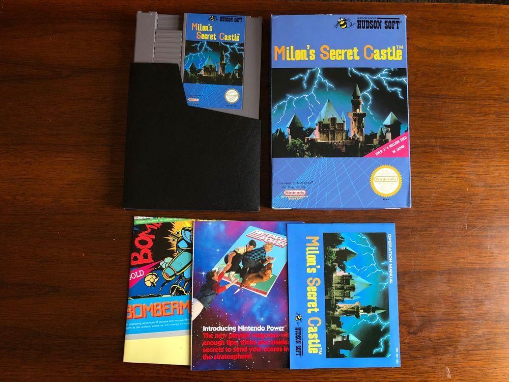 Milon's Secret Castle Nintendo * NES CIB * 100% Complete in