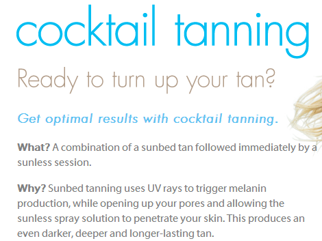 Try A Tanning Cocktail Tanning Bed Lotion Tanning Tanning Bed