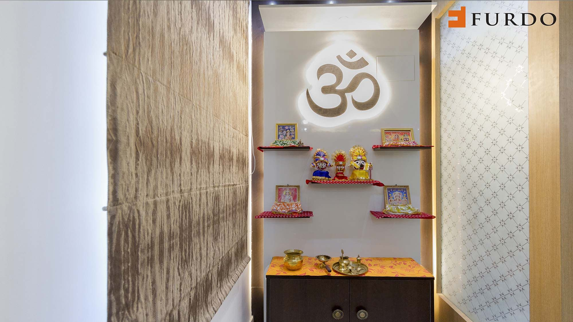 9 Small Mandir Design Ideas for Indian Homes (Wall