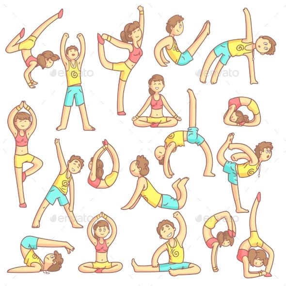 Couple Doing Yoga Poses | Kinderen