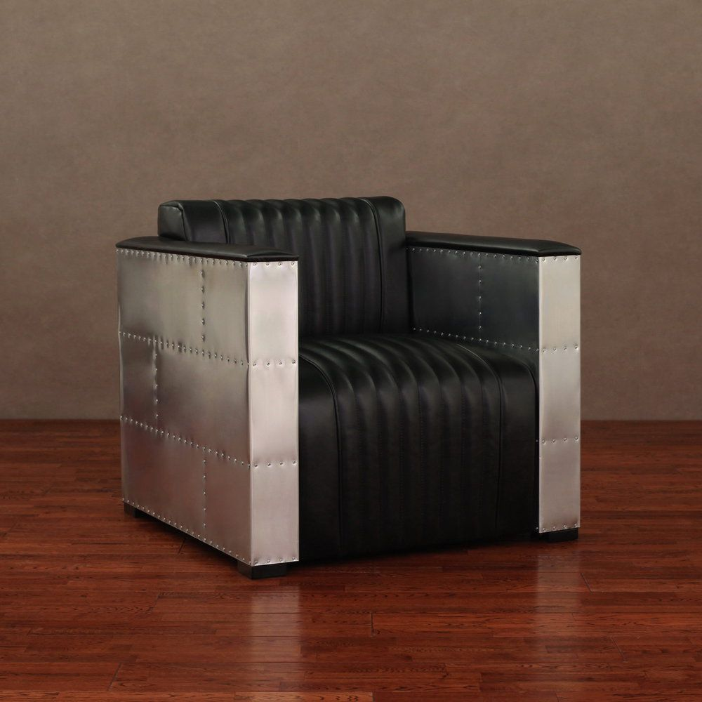 'Vindicator' Modern Black Leather Chair | Overstock.com Shopping - Great Deals on Living Room Chairs