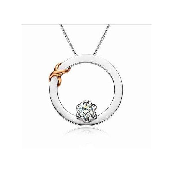 Infinity necklace circle diamond pendant on 10k white gold infinity necklace circle diamond pendant on 10k white gold mozeypictures Gallery