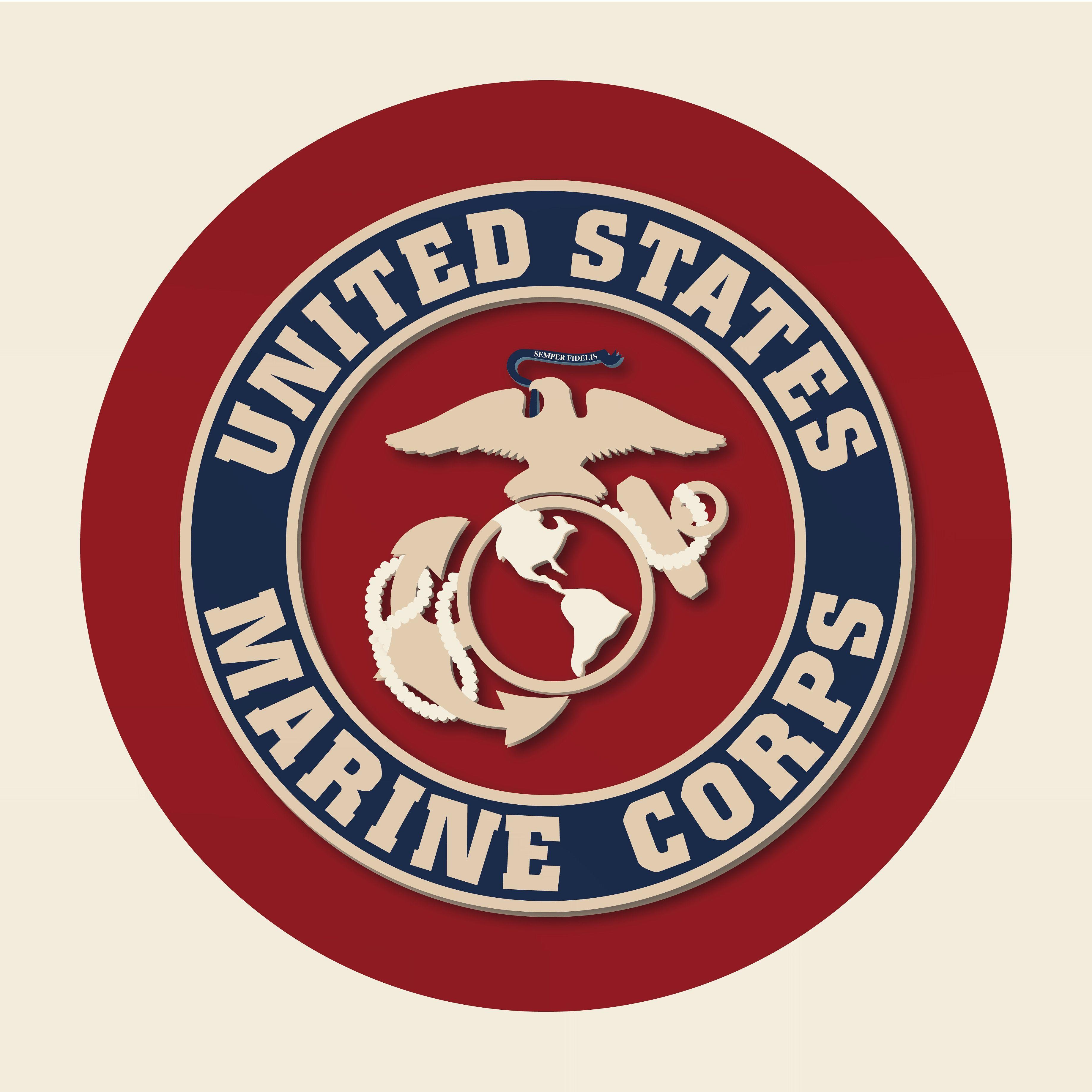 flat paper icon america collection america marines usmc