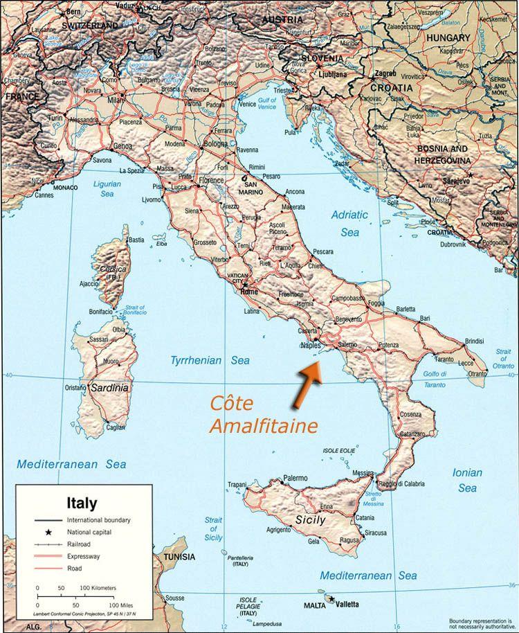 la cote amalfitaine carte   Recherche Google | ITALIA | Pinterest