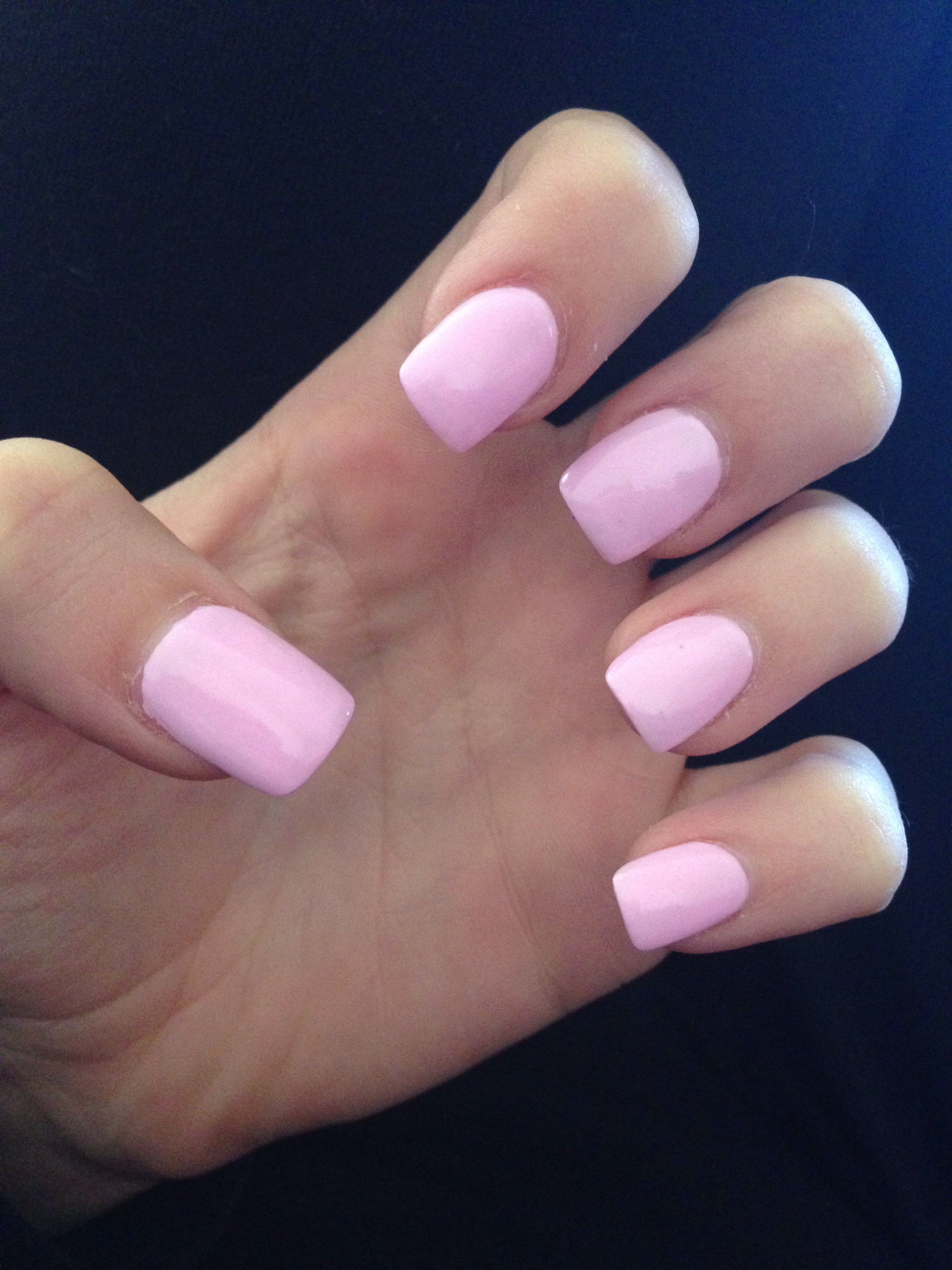 Acrylic Nails With Flowers: Light Pink Acrylic Nails