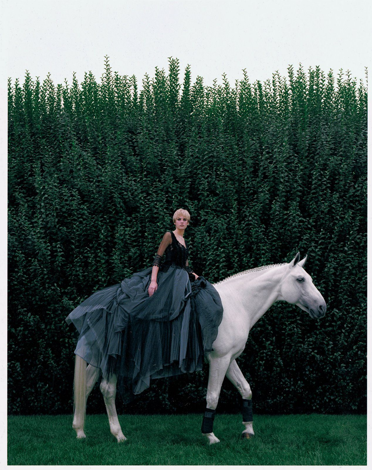 Who doesnut wear a ballgown to ride horseback back in the saddle