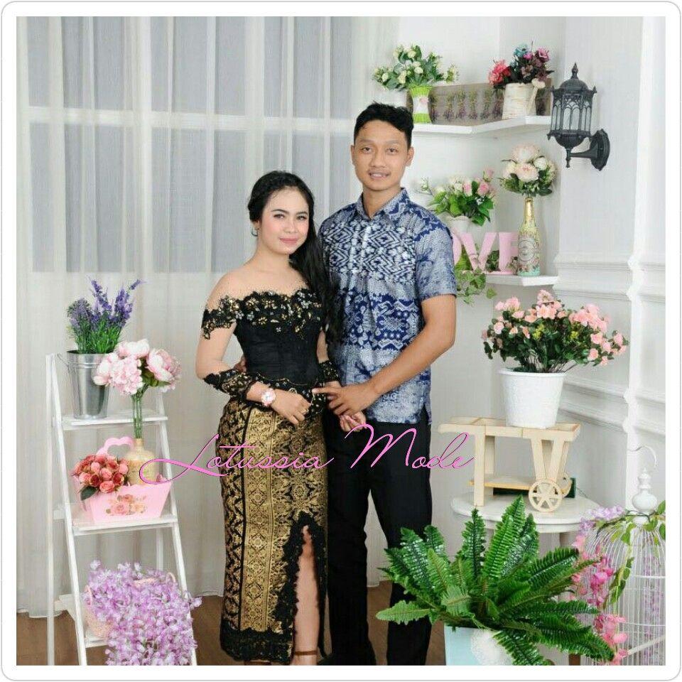 Kebaya Wisuda Black Of Gold Design Lotussia By Wijayanti