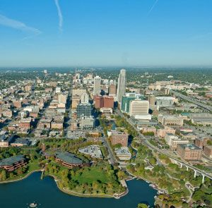 City of Omaha | arial view | Nebraska, University, College board