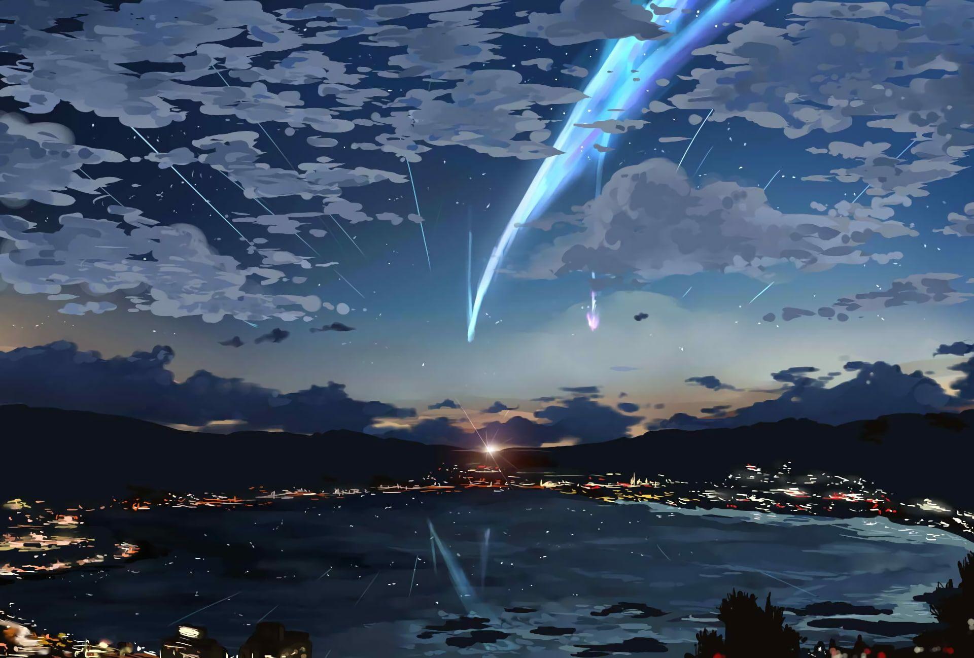 Body Of Water Your Name Sky Stars Kimi No Na Wa Lights Anime 1080p Wallpaper Hdwallpaper De Kimi No Na Wa Wallpaper Your Name Wallpaper Your Name Anime