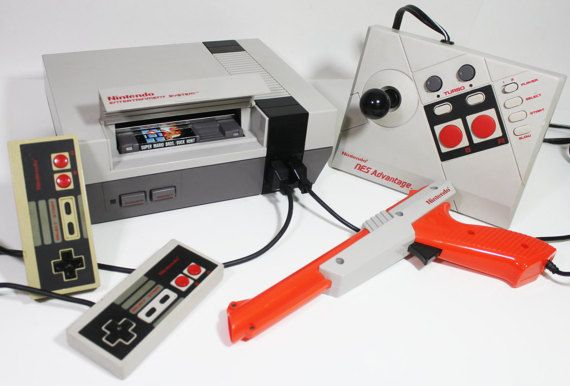 Nintendo nes console retro gaming video game system 2 controllers nintendo nes console retro gaming video game system by retro8games publicscrutiny Images