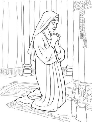 Click To See Printable Version Of Hannah Prays For A Son Coloring