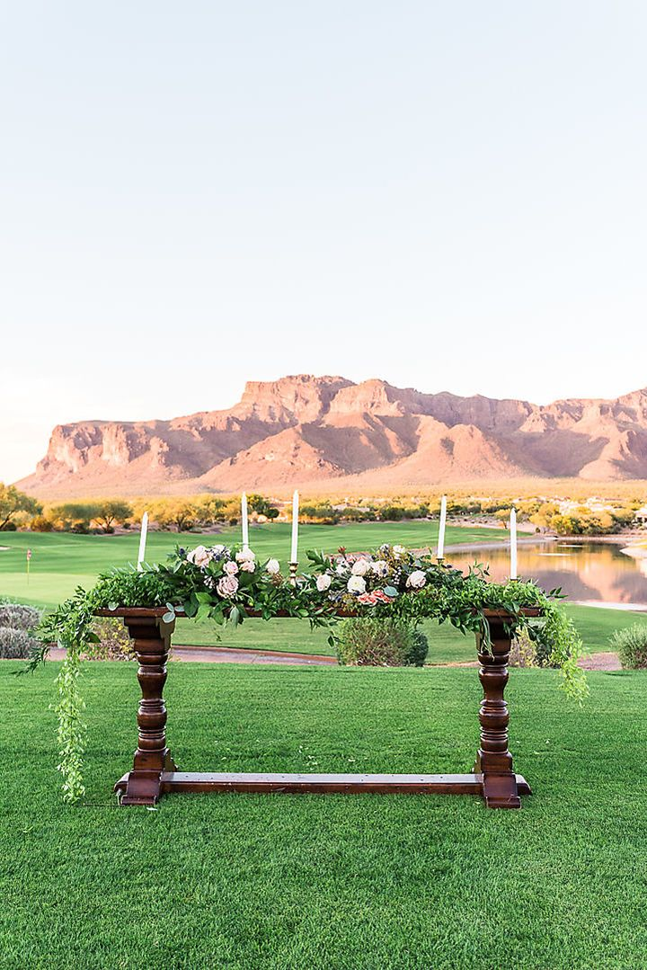 Luxe wedding venue superstition mountain golf and country
