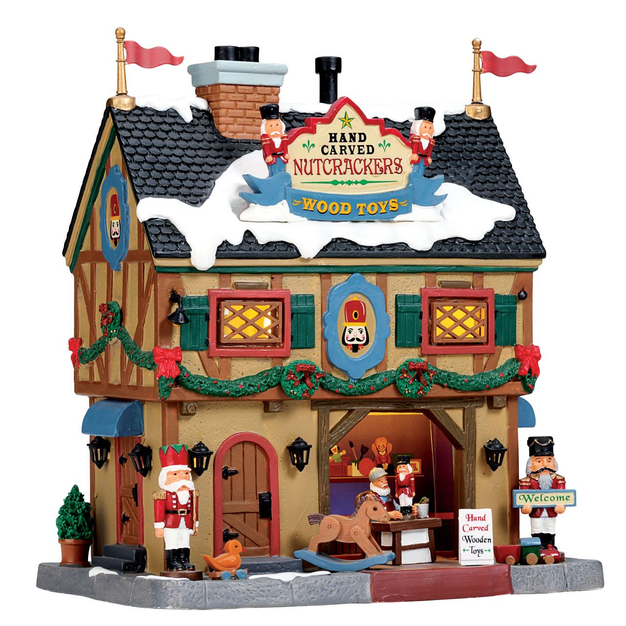 Lemax Nutcracker & Wood Toy Carve. SKU# 55994. Released in 2017 as a ...