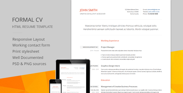 Shopping Formal Cv  Responsive Cv  Resume Html Templatewe Are