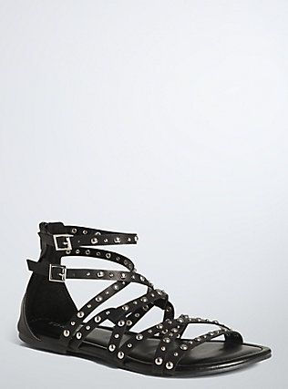d0a2d4878df Plus Size Studded Strappy Sandals (Wide Width)