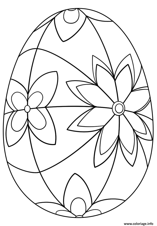 Coloriage detailed oeuf de paques Dessin à Imprimer (avec ...