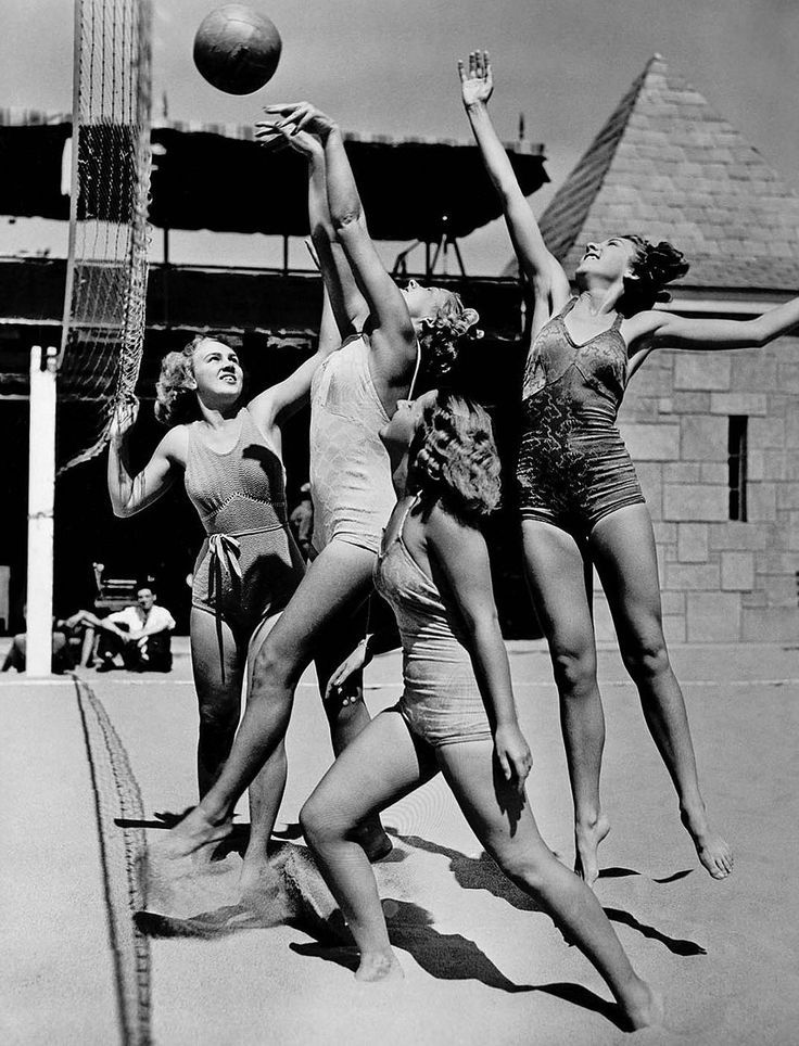 Historic Newspapers On Twitter Volleyball Photography Beach Volleyball Outfits Beach Volleyball Workout