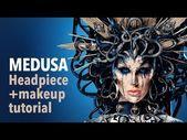 Photo of Medusa headpiece and makeup tutorial  Medusa headpiece and makeup tutorial – You…