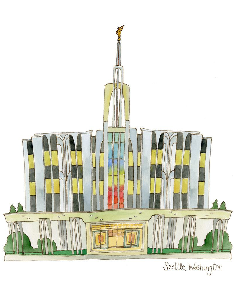 Seattle, Washington LDS Temple Downloadable Print Remeber to also ...