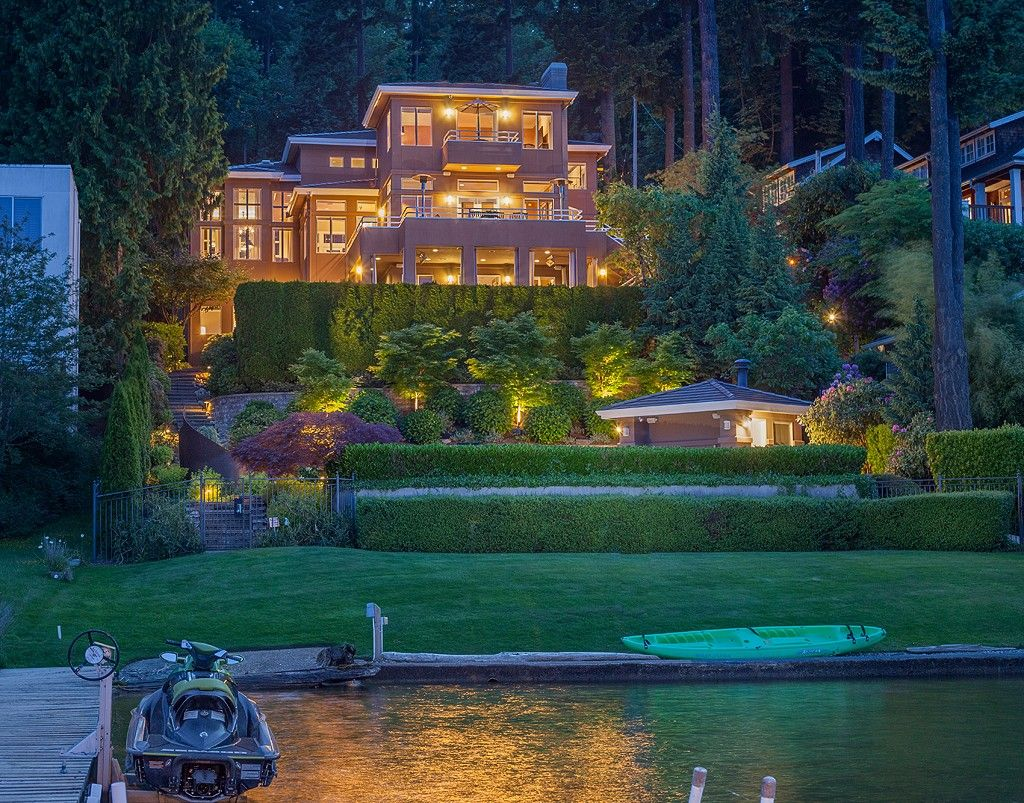 A magnificent waterfront estate that is elegant yet warm, comfortable, and perfectly landscaped. This home also features its own Koi pond. In the backyard you will find a spectacular, one-of-a-kind pool and spa. Mercer Island, WA Coldwell Banker BAIN $5,695,000