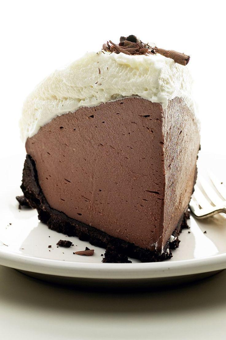 Food Photography - No Bake Chocolate Truffle Pie - 5 Ingredients Food Photography - No Bake Chocola