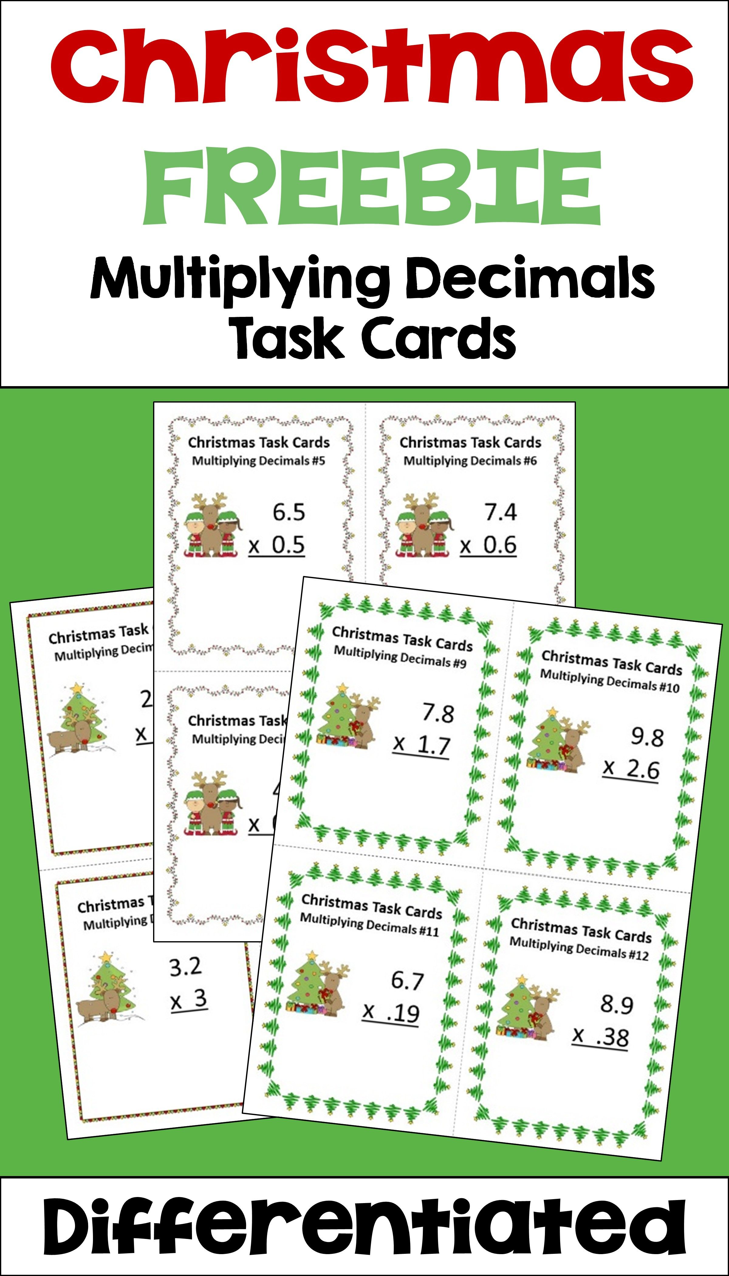 Christmas Math Is Fun For Kids With These Free Multiplying