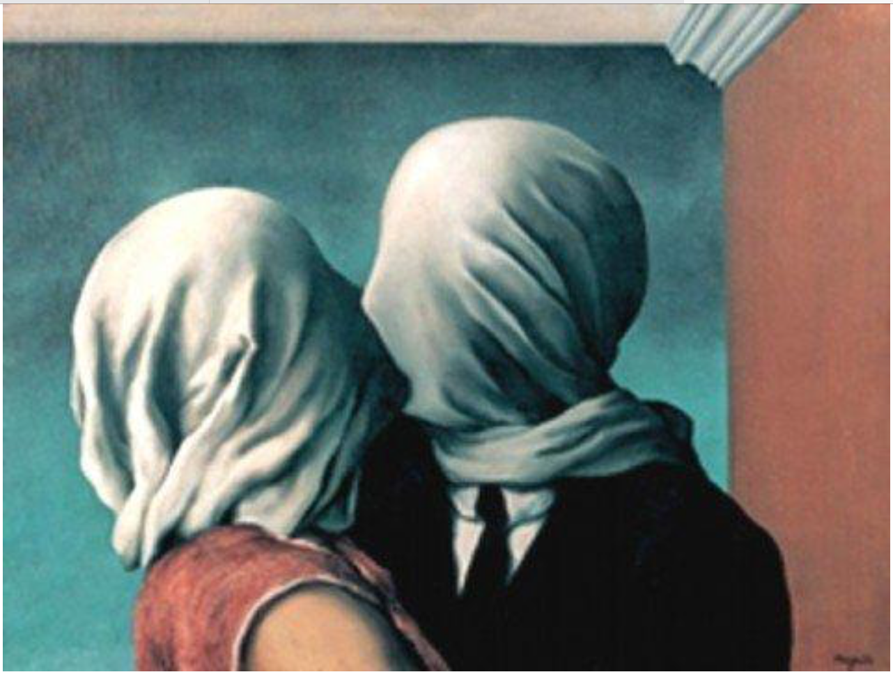 """""""The Lovers"""" by René Magritte,"""