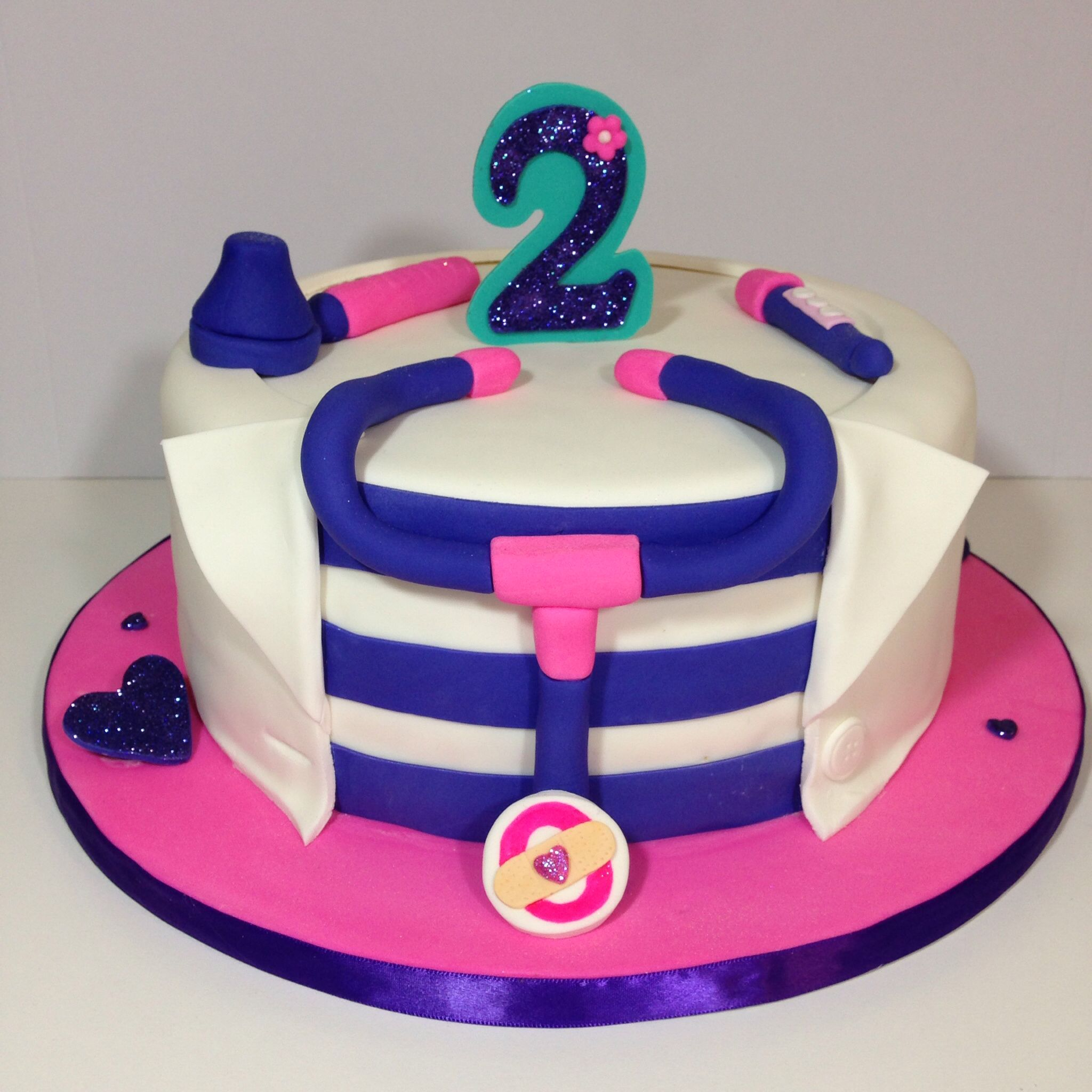 Fabulous Doc Mcstuffins Cake Doc Mcstuffins Cake Doc Mcstuffins Birthday Funny Birthday Cards Online Inifodamsfinfo