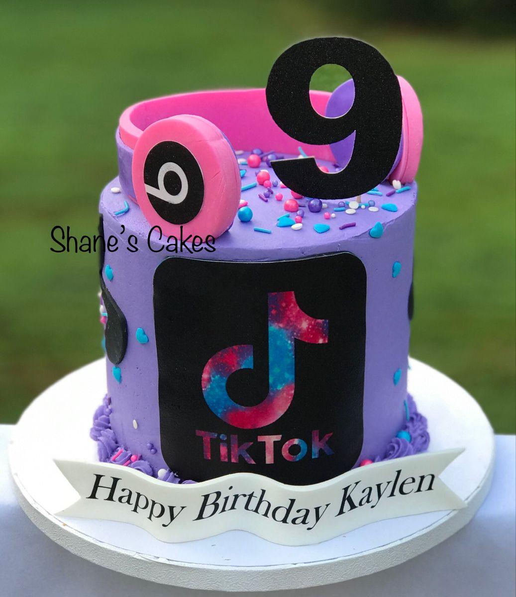 Tiktok Birthday For Girls Cake Birthday Cake Birthday