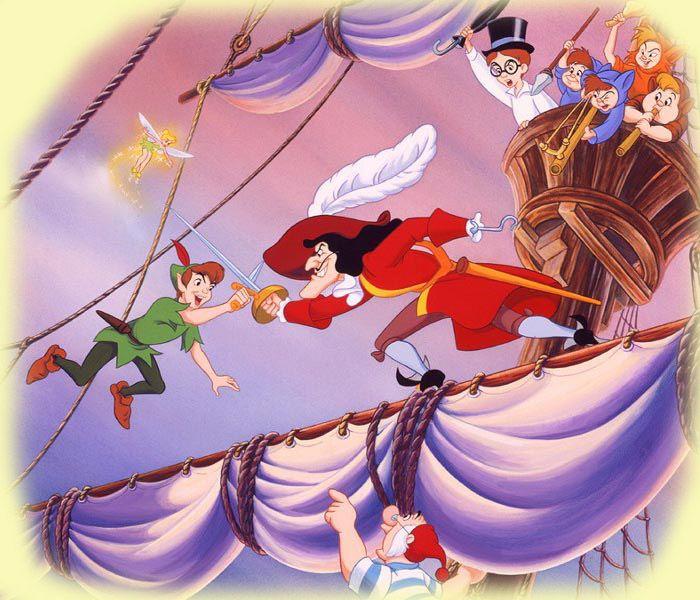 La Pelea Definitiva Entre Peter Y Garfio En El Barco De Garfio Fue Mi Momento Favorito Imagenes De Disney Peter Pan Disney Dibujos