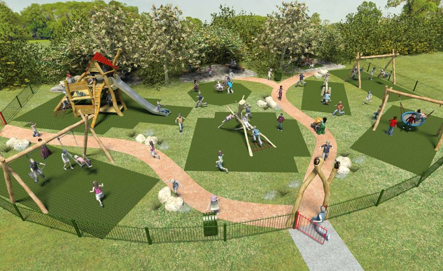 Alfa img - Showing > Cool Playground Design | landscape ...