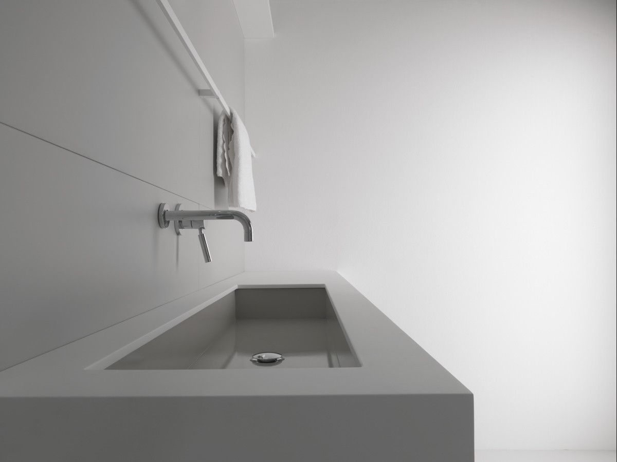 Lavabo Rettangolare Da Incasso Sottopiano In Acciaio Industrial