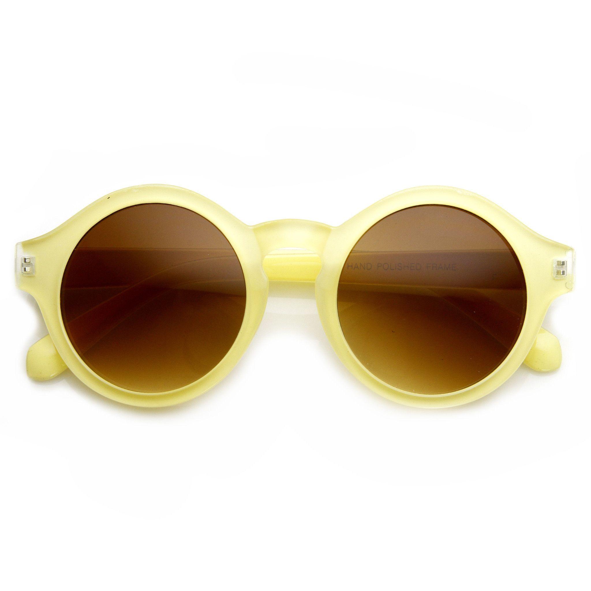 Classic Retro Keyhole Round P3 Frame Sunglasses 9196 | Pinterest