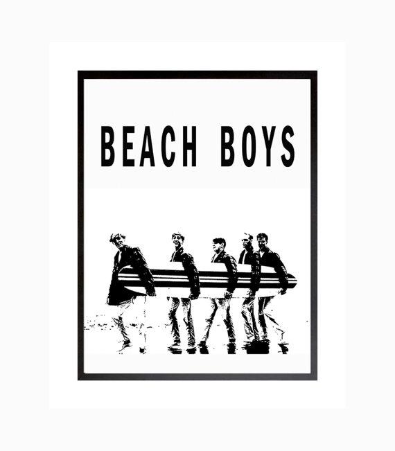 Beach Boys Poster Surfer Girl Print Rock California Beach