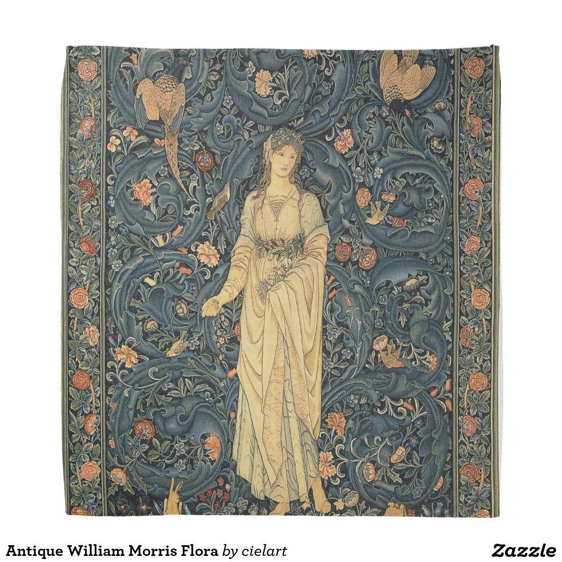 Antique william morris flora bandana with images