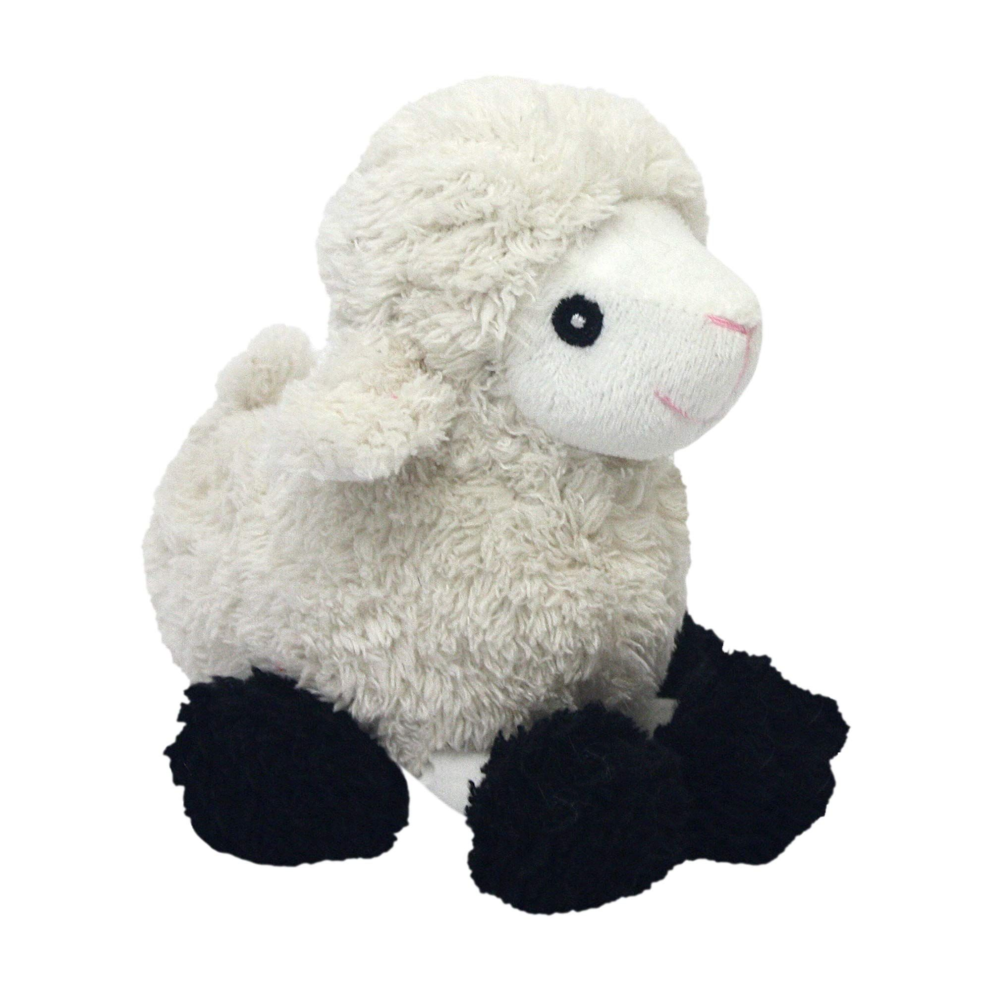 Multipet Look Whos Talking Plush Sheep 6inch Dog Toy See This