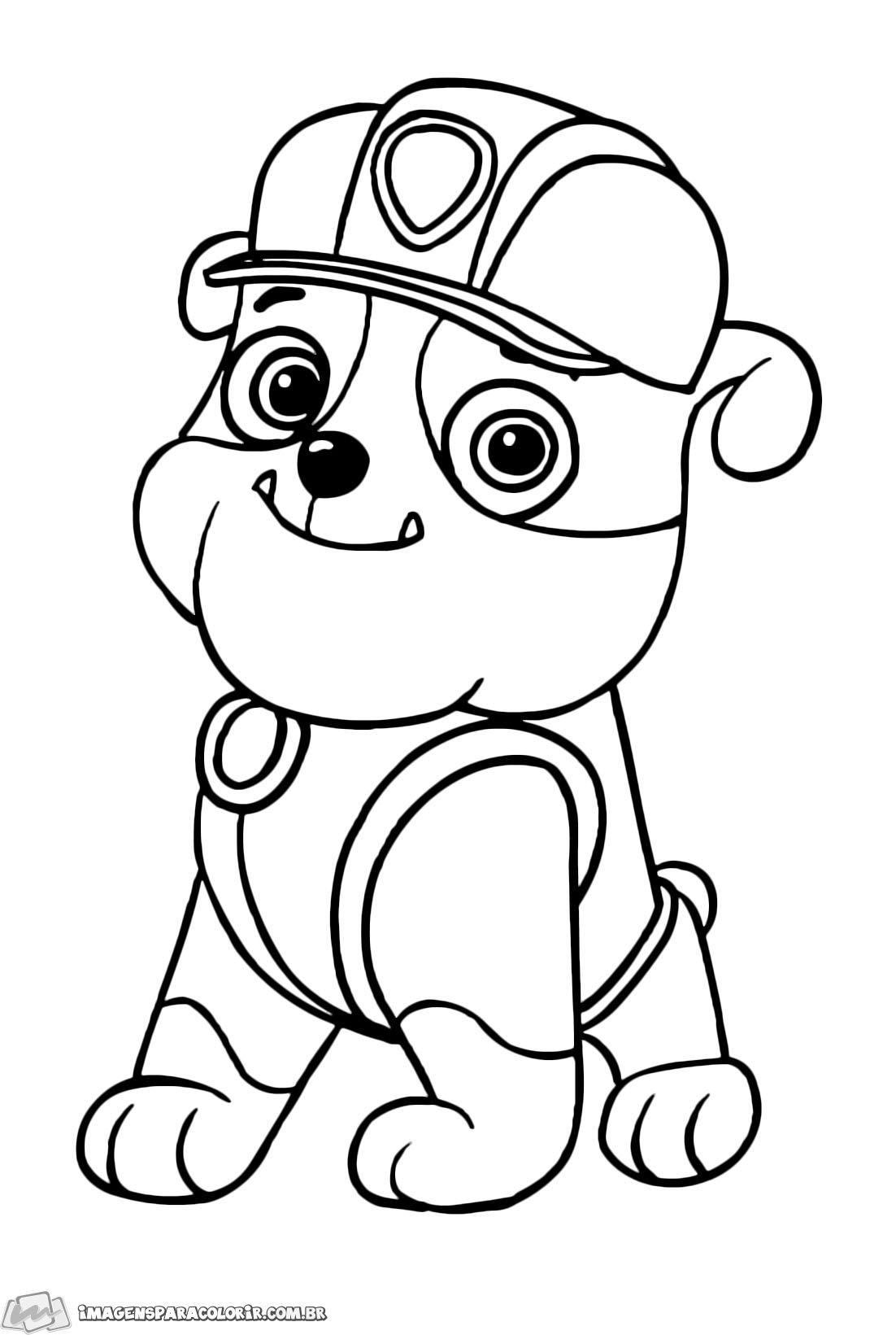 Rubble 02 Imagens Para Colorir Em 2020 Patrulha Canina Para Colorir Desenho Dos Minions Desenhos Para Criancas Colorir