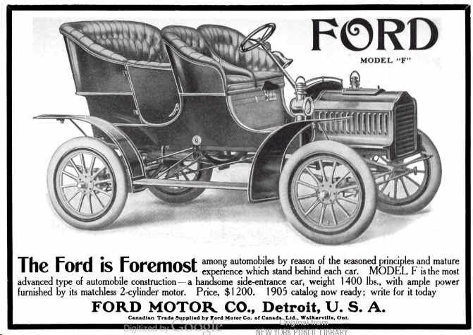 1905 ford automobile advertisement | posters/advertisements