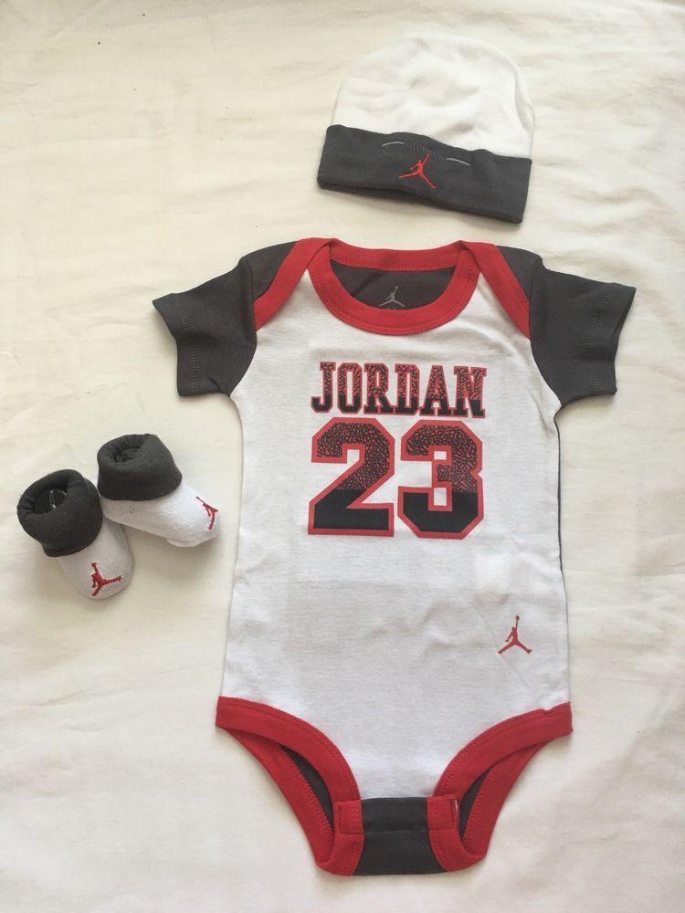 75cd2a50a 3 Piece Nike Air Jordan Gift Set #NikeAirJordan #Nike #baby #gift #bodysuit  #23 #babyboy
