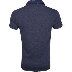 Photo of No Excess Poloshirt Jacqurard Spacedyed Blau