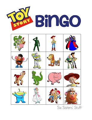 Six Sisters' Stuff: Toy Story Themed Birthday Party Bingo Printable!