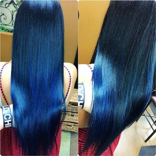 Dark Blue Hair Tips Google Search Hair Bright Hair Colors