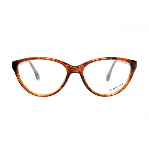 Brown Cat Eye Vintage Eyeglasses - Tortoise Cateye glasses - Antonio Miro Tortuga - 1980's designer