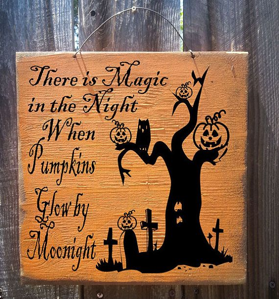 Halloween decor, Fall decor, Autumn decor, Halloween Sign, Pumpkin decor, Halloween decora... $19.95