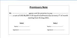 Sample Promissory Note  Promissory Notes    Promissory