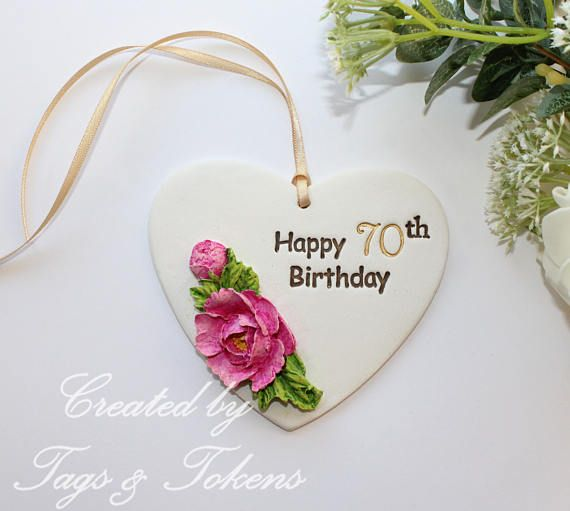 70th Birthday Gift Or Alternative Card Happy