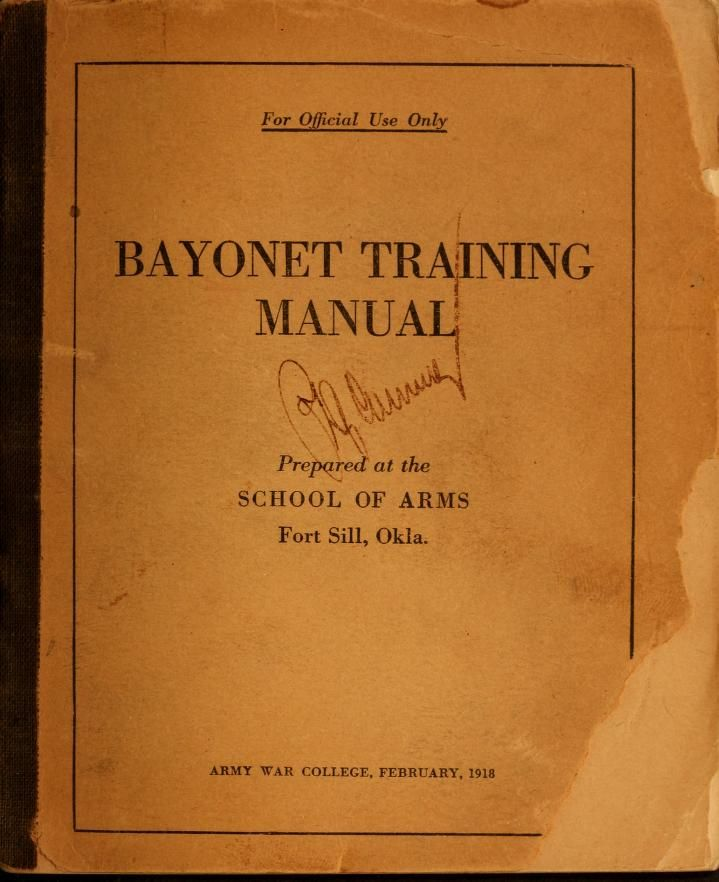 Bayonet training manual Swords etc Pinterest - training manual