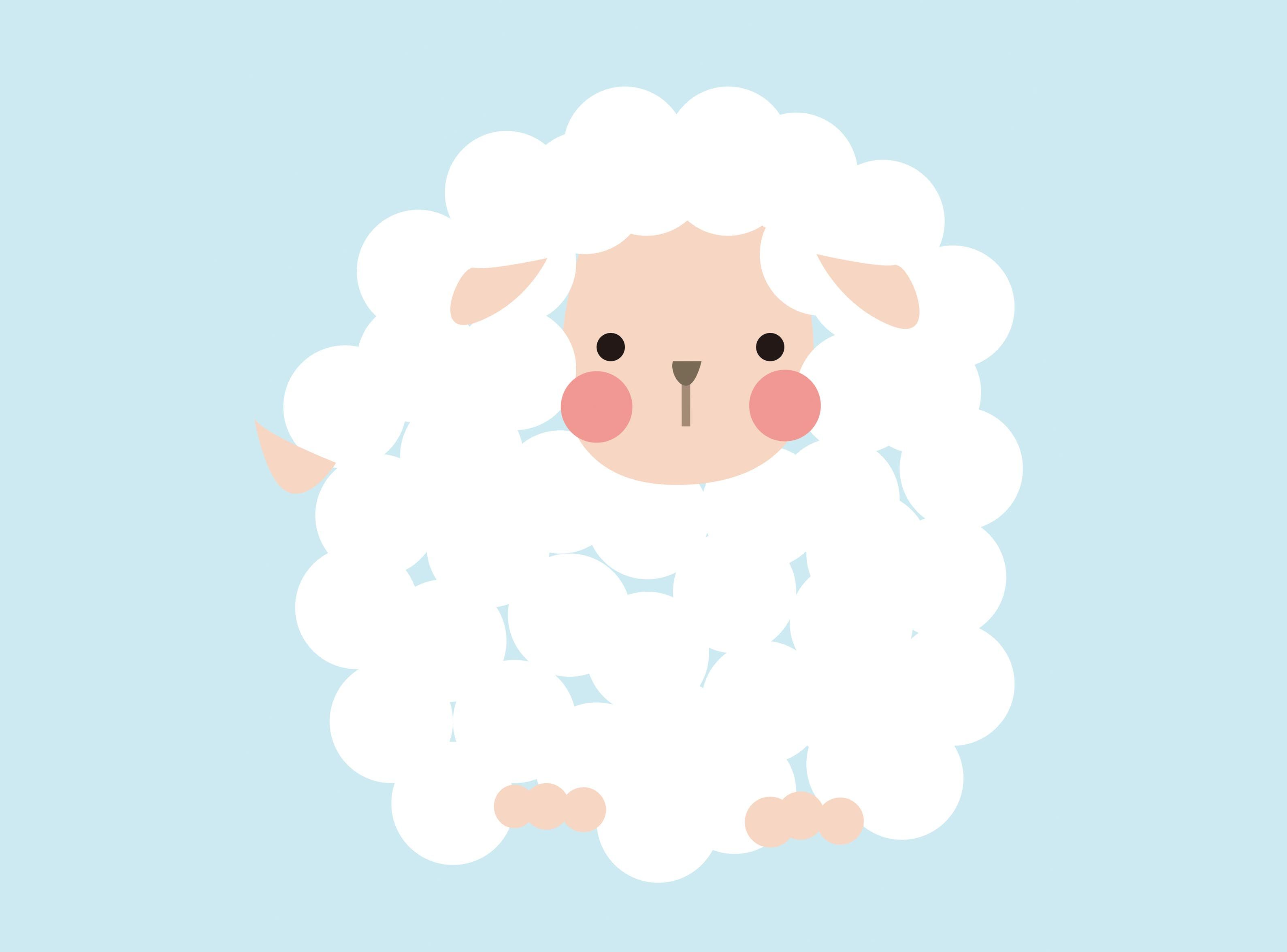 Baby Lamb Drawing Little Sheep Illustration By Jj Sheep Pinterest