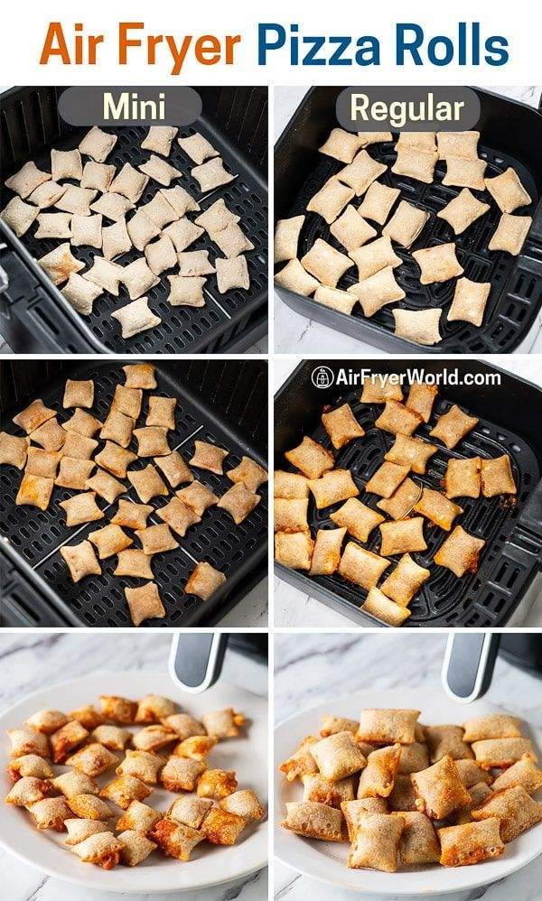 Air Fried Frozen Pizza Rolls in the Air Fryer